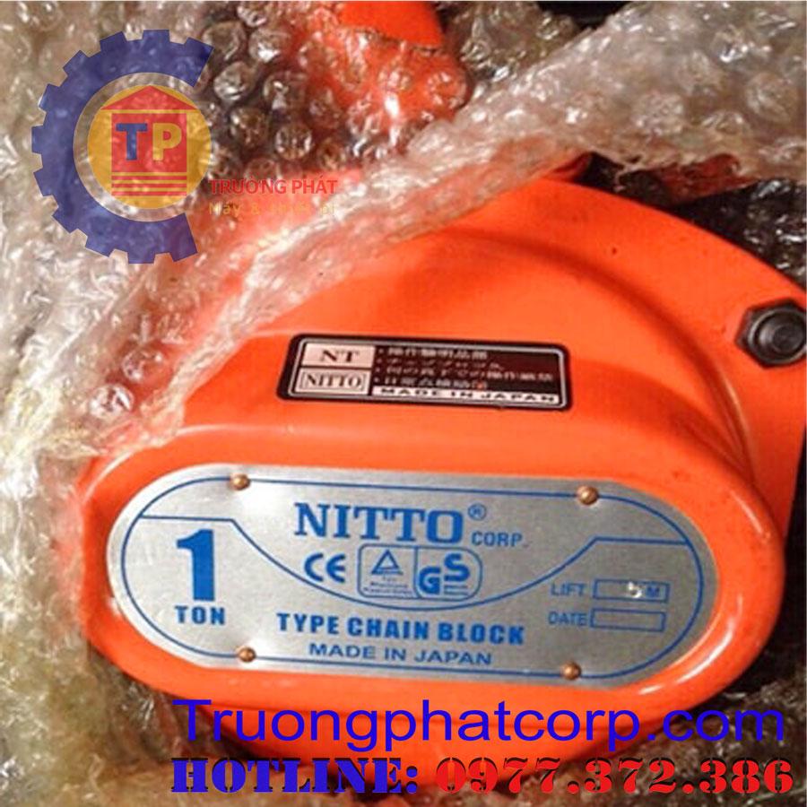 Pa lăng xích kéo tay Nitto 1 tấn 5m